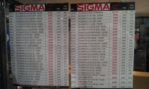 Sigma lens prices - cameraworld