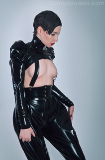 Sohui wearing Lacing Lilith Latex