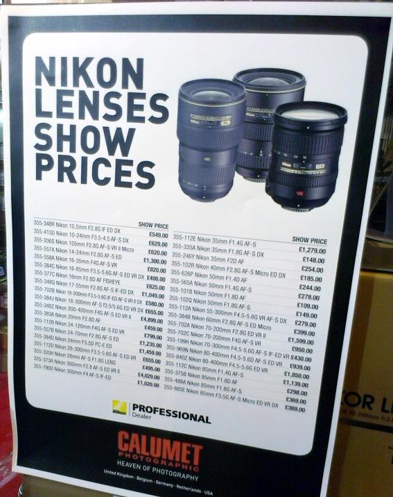 Calumet Nikon lenses