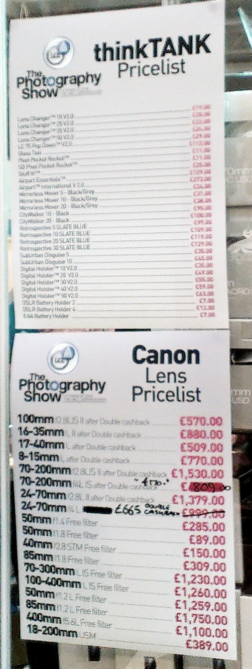London Camera Exchange - Canon Prices
