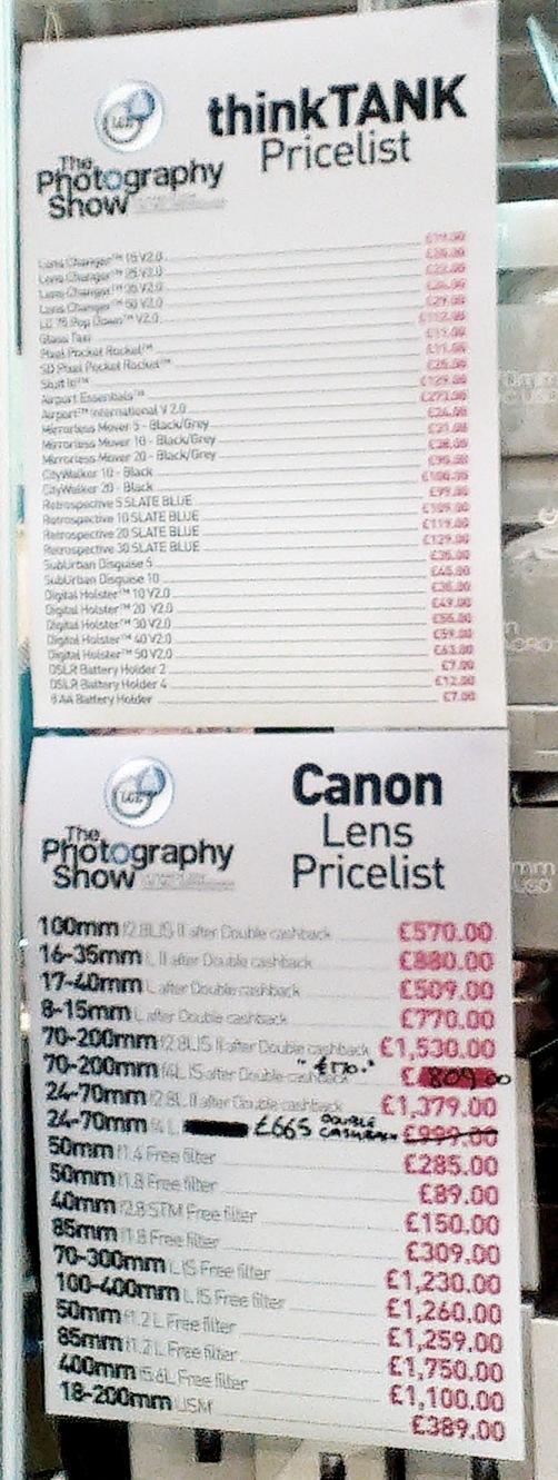 London Camera Exchange - Canon Prices