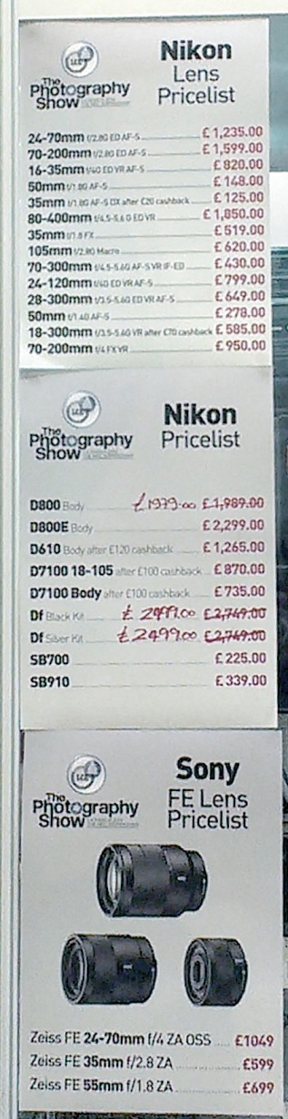 London Camera Exchange - Nikon - Prices